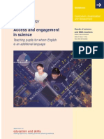 Access and Engagement in Science DfES 2002