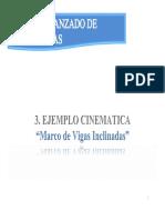 Clase 2 - Cinematica Ejemplo Marco Vigas Inclinadas