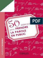 50 Exercices Pour Prendre La Parole en Public