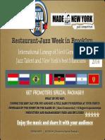 Restaurant Jazz Week in Brooklyn