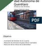 Presentacion carril confinado  Vias Terrrestres