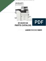 Ricoh MP C4502 C5502 D143, D144 Parts List