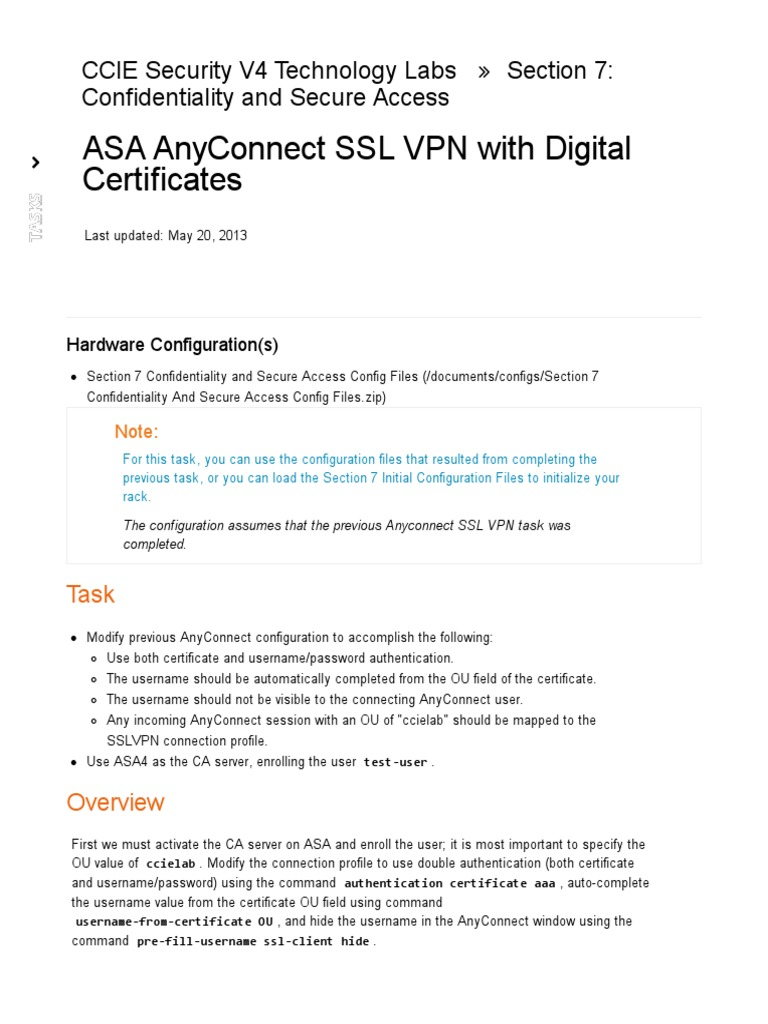 Asa Anyconnect Ssl Vpn With Digital Certificates Public Key