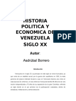 Historia Politica de Venezuela Siglo 20.