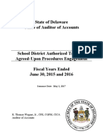 Fiscal Years 2015 and 2016 School District Authorized Tax Rate Agreed-Upon Procedures Report (Signed)