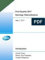 Pfizer PFE Q1 2017 Earnings Charts