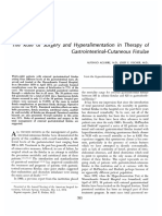 The Role of Surgery and Hyperalimentation in Therapy of Gastrointestinal-Cutaneous Fistulae