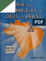 História das Assembléias de Deus no Brasil