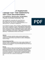 The Prevention of Anastomotic Leakage After Total Gastrectomy With Local Decontamination. a Prospective, Randomized, Double-blind, Placebo-controlled Multicenter Trial.