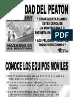 Cuidado Del Peaton vs. Equipo Movil Montas y Patinetas
