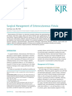 Surgical Management of Enterocutaneous Fistula