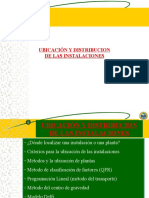 Ubicacion y Distribucion de Instalaciones