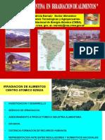 Experiencia Argentina en Irradiacion de Alimentos