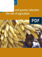 Growth & Poverty Reduction - The Role of Agriculture