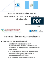 Avances en Guatemala-Normas Pavimentos de Concreto