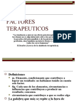 FACTORES TERAPEUTICOS. INTRODUCCION