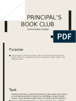 principals book club enrichment cluster