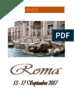 Septiembre de 2017 Viaje a Roma