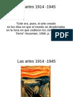las artes 1914 - 1945