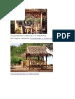 Choza de Bambú en El Estilo Nativo de Tailandia Asia
