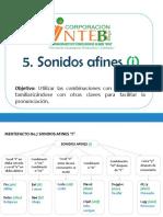 5. Sonidos Afines (i)