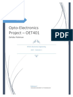 Opto Electronics Project - Fiber Optics Transmission