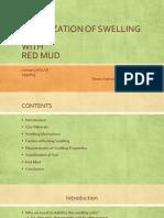 Stabilization of Swelling Soil