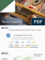 Plan de Trabajo 2016 Comisión Artesanías