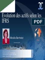 Evolution Des Actifs Selon Ifrs