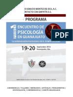 Programa Del 1er Encuentro de Psicología en Guanajuato Septiembre 2013