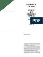 Edmundo Catalano Curso de Derecho Minero