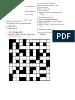 Crosswords Puzzles