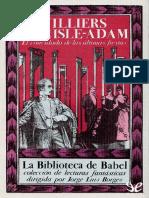 El Convidado de Las Ultimas Fie - Auguste Villiers de l'Isle-Adam
