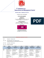 7th Conference on Performance Measurement and Management Control - 2013 - Programme
