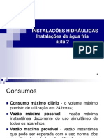 Curso de Instalações Hidraulicas Instalações de Agua Fria