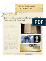 Top Twenty Reasons Lawyers Fail