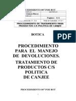 POE 07 Procedimiento de Politicas de Canjee