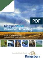 British Standards Rainwater Harvesting Systems