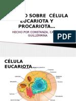 TRABAJO CÉLULA EUCARIOTA Y PROCARIOTA.pptx