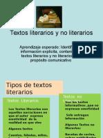 Textos Literarios y No Literarios 6 Básico