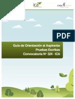 GUÍA ORIENTACIÓN PRUEBAS ESCRITAS