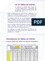 FACTORES Y SU EMPLEO Interpolacion i y n Desconocida Ppt