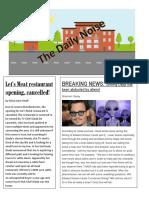 celebrity gossip newspaper