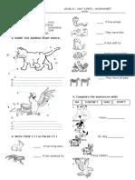 Animal Description Worksheet