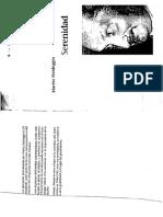 Serenidad de Heidegger