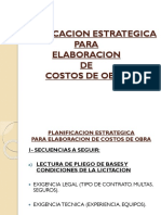 Planificacion Estrategica de Obra
