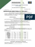 Resolucion de Aprobar Nominas 2017
