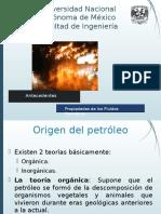 Antecedentes a las Propiedades De los Fluidos Petroleros