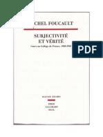 Foucault-Subjectivité Et Vérité