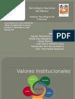 Valores Institucionales- Taller de Desarrollo Humano